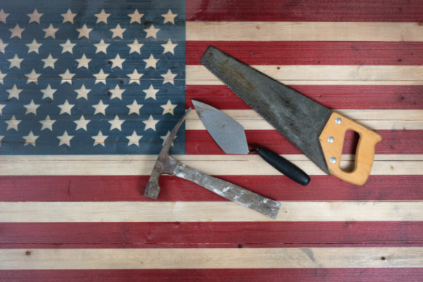 Tools and American Flag